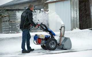 Уборщик снега для мотоблока