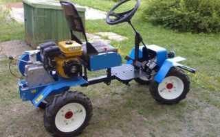 Мини трактор из мотоблока нива