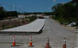 Ремонт дороги цементом
